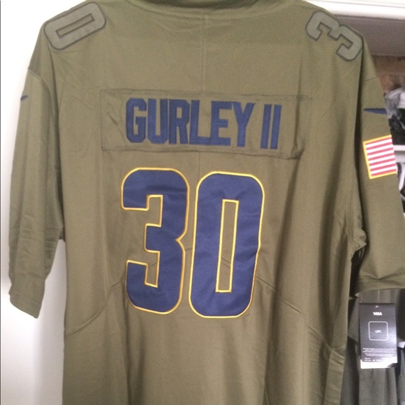 new concept 692a7 1ced3 Los Angeles Rams Todd Gurley Salute To Service NWT